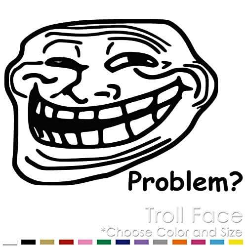 Amazon Com Troll Face Internet Meme Vinyl Decal Sticker Tf 02