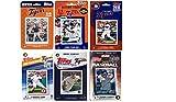 MLB Detroit Tigers 6 Different Licensed Trading Card Team Sets