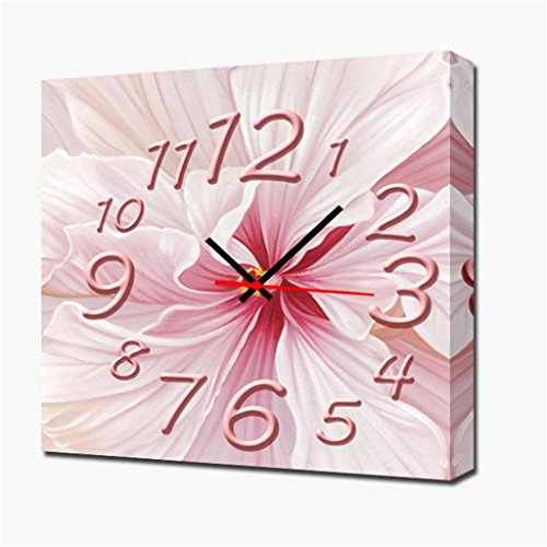 Royal-Modern Style canvas painting living room Chinese painting lotus flowers Wall Clock in Canvas 1pcs