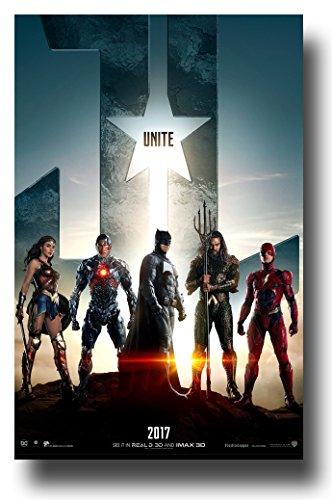 Justice League Poster - Movie 11 x 17 Wonder Woman Flash Batman JLT
