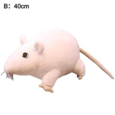 IMCROWN Plush Rat Mouse Stuffed Animals Toys, Bolster Stuffed Pillow Chinese 2020 Rat Year Rat Zodiac Stuffed Plush Toys Blessing Souvenir Gift for Decorate Homes: Home & Kitchen