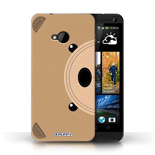 Coque de Stuff4 / Coque pour HTC One/1 M7 / Ours Design / Cousu des Animaux Effet Collection