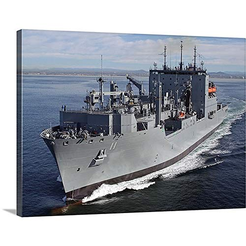 - GREATBIGCANVAS Gallery-Wrapped Canvas Entitled Military Sealift Command Dry Cargo and Ammunition Ship USNS Washington Chambers by Stocktrek Images 16