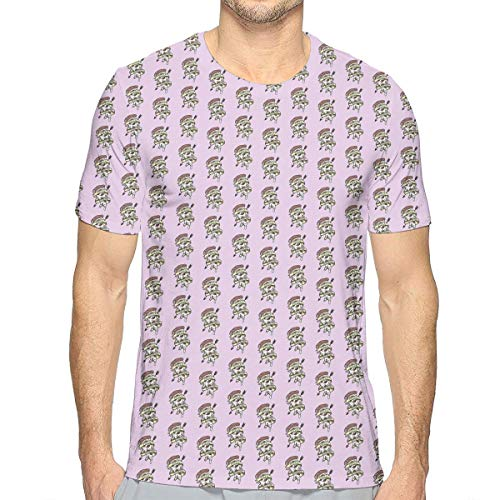 (Men's Summer Pizza Addicted Casual Novelty Crew Neck Short Sleeve T Shirt Gift)