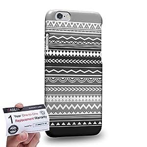 "Case88 [Apple iPhone 6 / 6s (4.7"")] 3D impresa Carcasa/Funda dura para & Tarjeta de garantía - Art Aztec Design Trend Mix Black Mix"