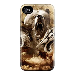 First-class Case Cover For Iphone 4/4s Dual Protection Cover Unleash The Beast