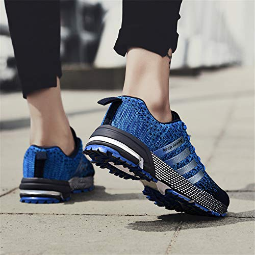 KUBUA Womens Running Shoes Trail Fashion Sneakers Tennis Sports Casual Walking Athletic Fitness Indoor and Outdoor Shoes for Women F Blue Women 6 M US/Men 5.5 M US by KUBUA (Image #8)