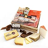 KaBloom Gift Basket Collection: Spanish Gourmet Cheese & Charcuterie Gift Crate