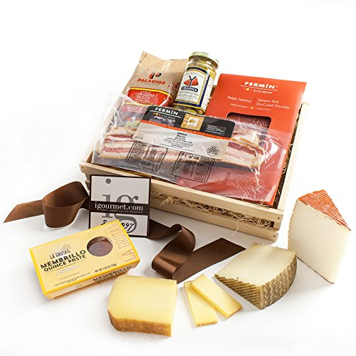 KaBloom Gift Basket Collection: Spanish Gourmet Cheese & Charcuterie Gift Crate by KaBloom