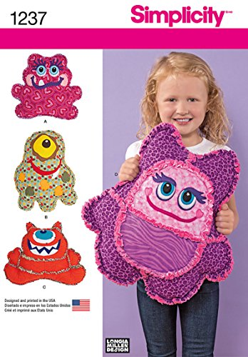 Simplicity Creative Patterns 1237 Rag Quilted Monster Pillow