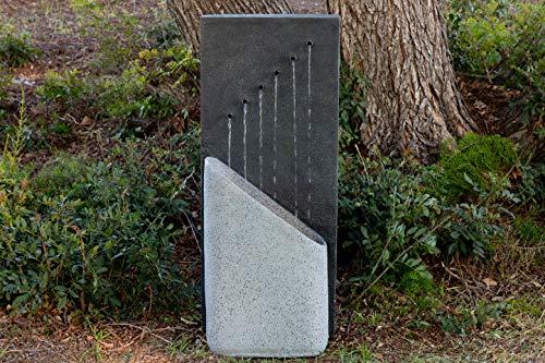 Alpine Corporation GIL1644 Infinity Calming Floor Fountain, 40 inch Tall, Grey