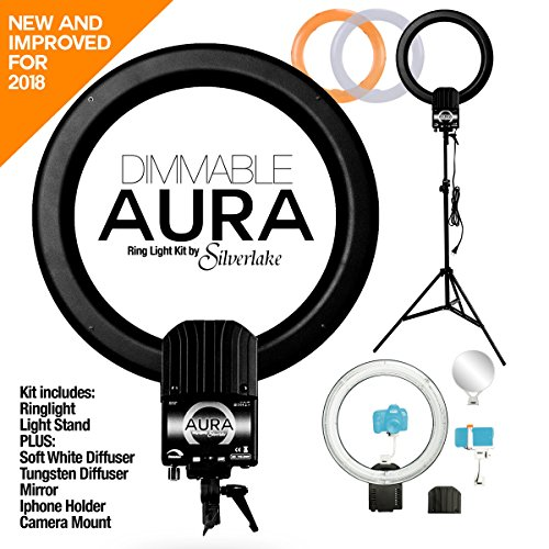 AURA DIMMABLE Ring Light Kit by Silverlake - Large 19 inch