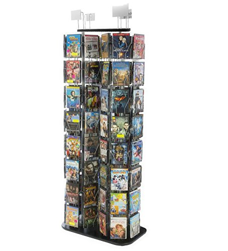 FixtureDisplays DVD, CD, BlueRay, Literature, Greeting Card Postcard Rack Display High Capacity 96 Pockets 11875 11875