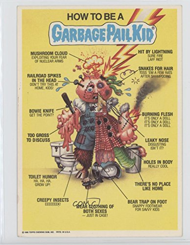 Garbage Pail Kids Poster (How to be a Garbage Pail Kid (Trading Card) 1986 Topps Garbage Pail Kids Jumbos - Posters #11)