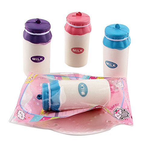 Clearance! ZOMUSA Yogurt Bottle Squeeze Jumbo Stress Stretch Soft Scented Slow Rising Toys (As picture show)