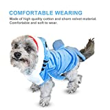 Gimilife Pet Costume, Pet Shark Costume Outfit, Halloween pet costumes Pet Pajamas Clothes Hoodie Coat For Dogs and Cats, Autumn and Winter (M)