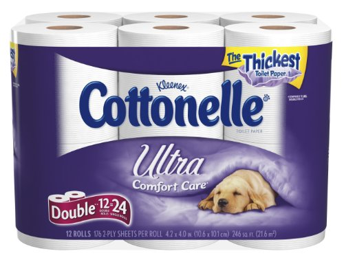 Cottonelle Ultra Double Roll, ,2 Ply, White-12pk