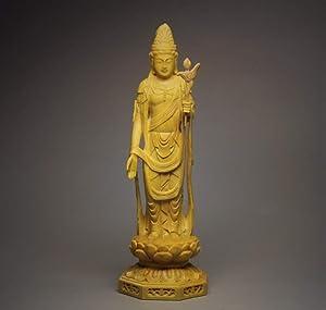 YZDSBD Statues Figurines Sculptures Sheng Guanyin,Tang Mi, Buddha Statue, Boxwood Carving Buddha Sculpture Tibet Boedha Kuan Yin Statues for Decoration