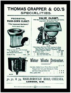Style Vintage Tableau Plaque Murale M/étal Plaque Magnet R/éfrig/érateur R/étro Shabby Chic Ecool Thomas Crapper WC