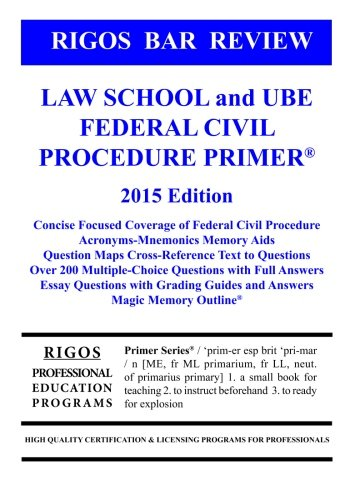 Rigos Bar Review Law School and UBE Federal Civil Procedure