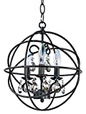 Maxim 25140OI Orbit Crystal 1 Tier Chandelier Light – 60 Watts Contemporary Style Lighting Fixture in Rubbed Bronze Finish. Home Decor Lights Review