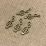 Y&Y Star 2510MM G Clef Symbol Music Note Charms Pendant for Crafting,Jewelry Making Accessory (Music Note 50 Bronze)