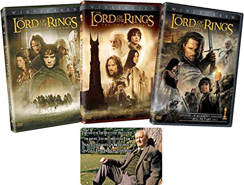 Lord of the Rings Complete Trilogy DVD Collection with Bonus Glossy Artcard (The Fellowship / Two Towers / Return of the King) (Lord Of The Rings Extended Edition Subtitles)