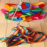 Dance Ribbons Rainbow Streamers Rhythmic Gymnastics