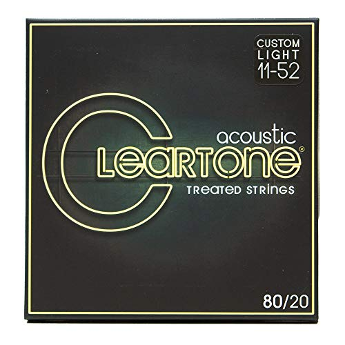 Cleartone 7611 80/20 Bronze Acoustic String Set Custom Light (Cleartone Guitar Strings)