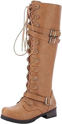 Weant Chaussures Femme Bottes Bottines Femmes à Lacets