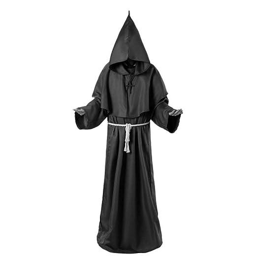 ZLHZYP Disfraz Halloween Disfraz de segador de Terror Vestido de ...