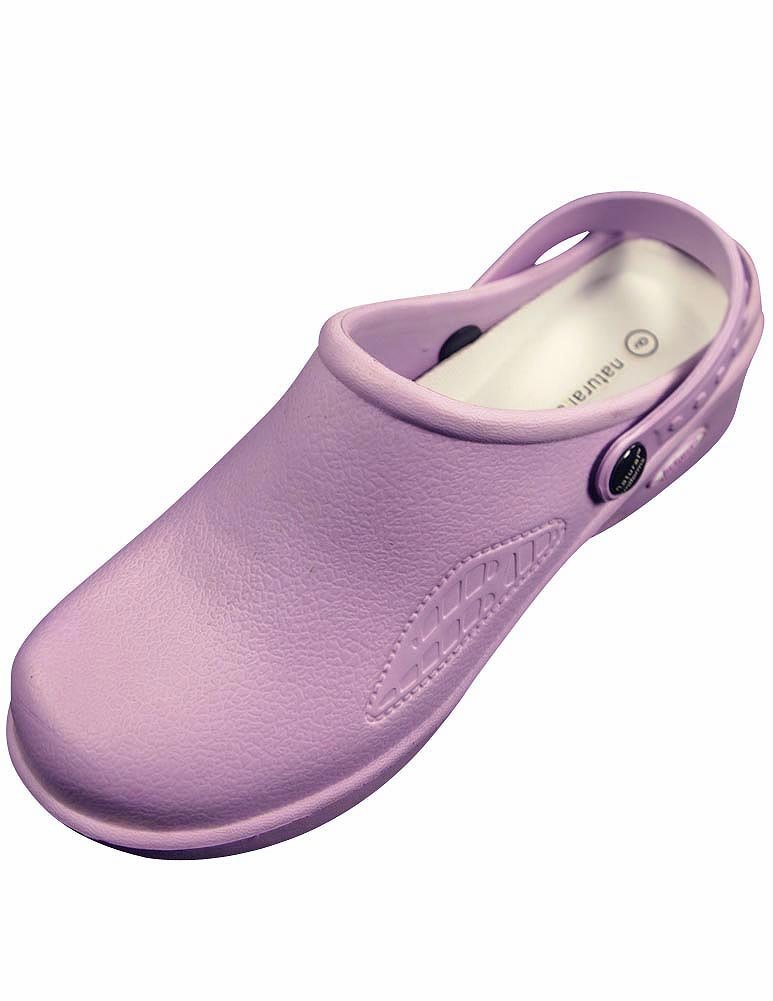 Natural Uniforms Women's Lightweight Comfortable Nurse/Nursing Clogs, Lilac 32344-9B(M) US