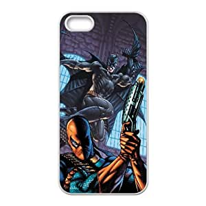 Batman And Deathstroke Comic iPhone5s Cell Phone Case Whitexxy002_6836098