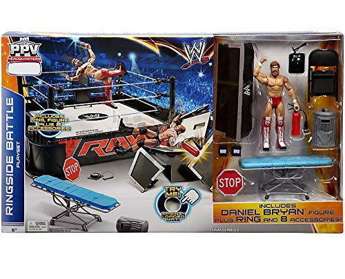 Mattel WWE Wrestling Ring Exclusive Playset PPV Ringside Battle Ring [Includes Daniel Bryan Figure] by Mattel [並行輸入品]