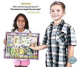 Monsters Reward & Responsibility Chore Chart   Multiple Children   Magnetic Dry Erase Board   Improved Behavior   Star Incentive by Kid Rockett (Monsters   Multiple)