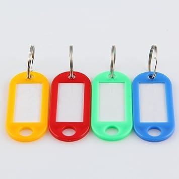 tpgobuy Multi-Colors llavero llaveros ID Etiquetas Etiquetas ...