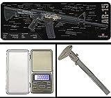 Ultimate Arms Gear Gunsmith Armorer's AR-15 AR AR15 Cutaway Bench Cleaning Gun Mat + Precision Digital Pocket Sized Stainless Steel Scale + 6'' Vernier Caliper Dual Measurement w/ Thumb Lock Tool Kit