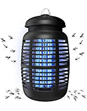 Bug Zapper & Attractant - Effective Electric 220V Mosquito Zappers/Killer - Insect Fly Trap, Waterproof Outdoor/Indoor - Electronic Light Bulb Lamp for Backyard (Black)