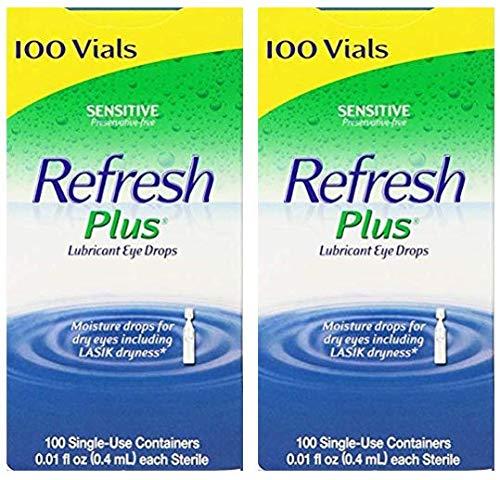 Allergan Refresh Plus Lubricant Eye Drops Single-Use Vials -