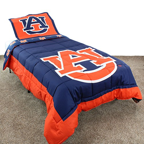 College Covers Auburn Tigers Reversible Comforter Set - Twin