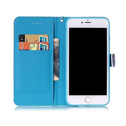 COWX iPhone 8 Plus Hülle Kunstleder Tasche Flip im Bookstyle Klapphülle mit Weiche Silikon Handyhalter PU Lederhülle für Apple iPhone 8 Plus Tasche Brieftasche für iPhone 8 Plus schutzhülle
