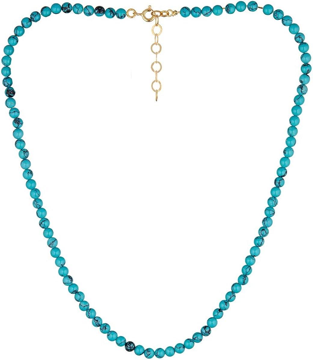 Córdoba Jewels | Gargantilla en Plata de Ley 925 con Piedra semipreciosa con diseño Turquesa