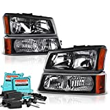 04 chevy truck hid headlights - VIPMotoZ 2003-2006 Chevrolet Silverado 1500 2500 3500 Headlights - Built In Xenon HID Low Beam, Matte Black Housing, Driver and Passenger Side