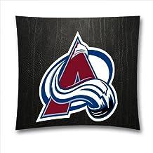 AM Kingdom Decortative NHL Colorado Avalanche Teams Square Throw Pillowcase for Sports Fans, Pure Cotton, Bedding, Sofa, Size:18x18 Inches (45x45 cm) Ice Hockey Theme 11