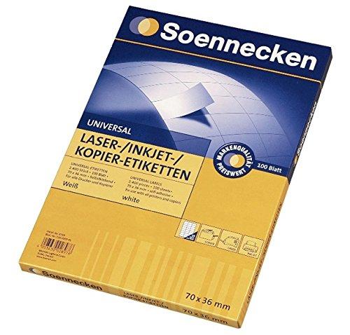 SOE Etikett 5759 70 x 36 mm Pa = 2.400st per fotocopiatrici cartuccia stampante a getto Soennecken
