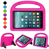 LTROP All-New Kid-Proof Case for Amazon Fire 7 Tablet (7th Generation, 2017 Release), Rose