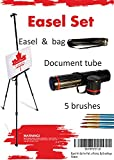 Easel Art Set for Field, Floor or Table Top Use. Comes with a