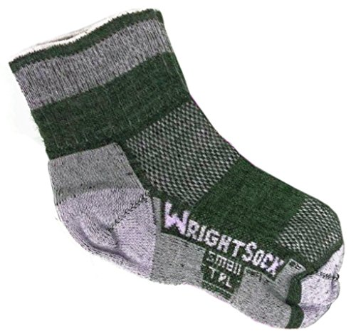 Wrightsock 544 Double Layer TRL Quarter Socks, Pink, Large
