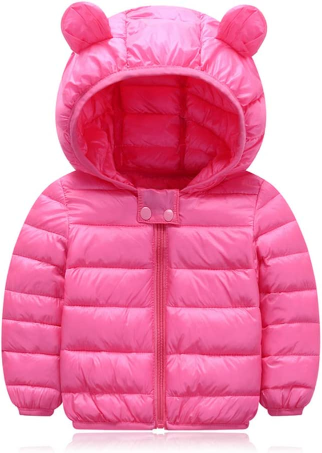 Light Puffer Jacket for Baby Boys Girls Padded Lefuku Baby Boys Girls Winter Coats,Winter Coats for Kids with Hoods Infants the Ski-Blue Toddlers Outwear Suitable for Outdoor Sport