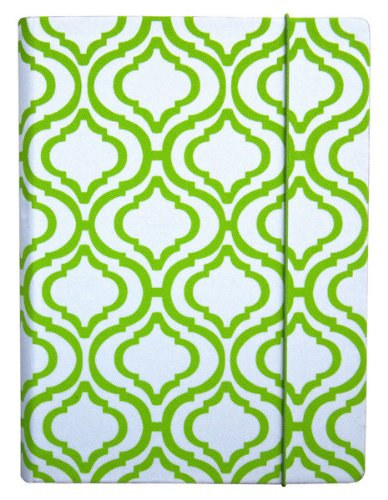 PUNCHCASE by Leslie Hsu Hansen Cover, White & Lime Trellis Print (fits Kindle, Paperwhite, and Touch)